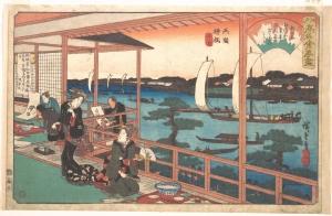 Andou-hiroshige-ryogoku-yanagibashi-kawa
